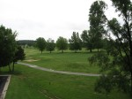 The view from the other side of the balcony (Golf course)